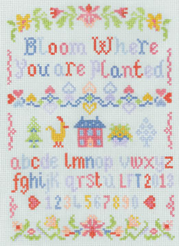child's alphabet sampler cross stitch