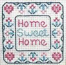 Miniature Home Sweet Home sampler cross stitch chart