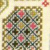 detail of Garden sampler cross stitch kit