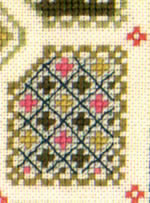 detail of Garden sampler cross stitch kit