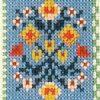 detail american wisdom cross stitch sampler