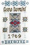 Tiny Anno Domini sampler cross stitch kit