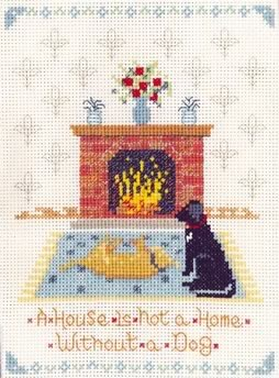 dogs home cross stitch