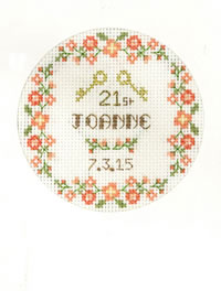 Coming of Age card cross stitch