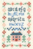 tiny alphabet sampler cross stitch