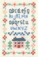 tiny alphabet sampler cross stitch