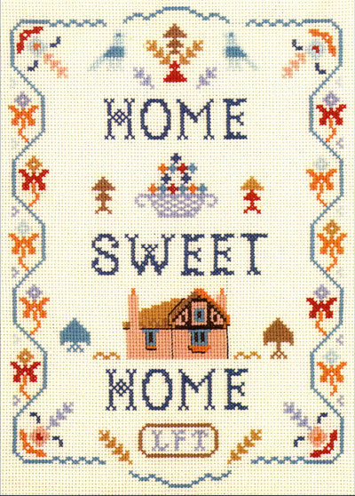 home sweet home sampler cross stitch kit or chart