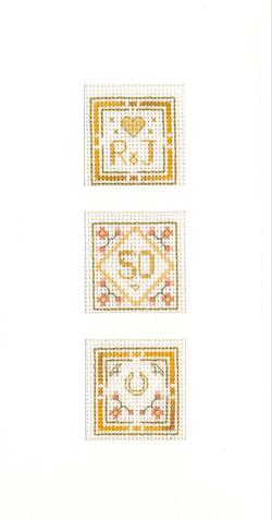 Window 50th Anniversary Card cross stitch kit