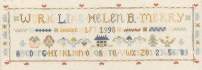 ABC sampler cross stitch