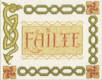 Failte Celtic Welcome Sampler cross stitch