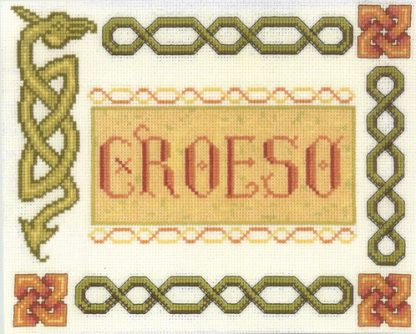 Croeso Welsh welcome sampler cross stitch