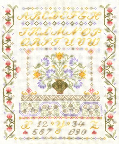 floral alphabet sampler cross stitch