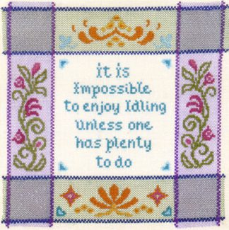 Enjoy Idling Sampler cross stitch kit