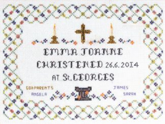 Christening Sampler cross stitch