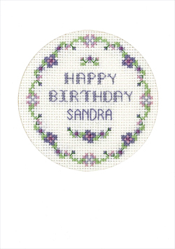 Mauve flowers birthday card