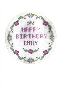 plum flowers birthday card