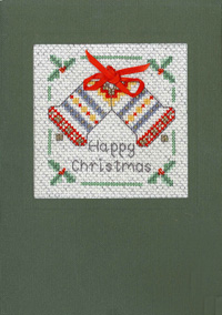 Happy Christmas card cross stitch kit