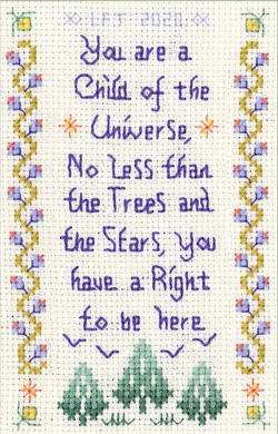 Child of the Universe cross stitch