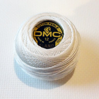 DMC coton perle WHITE no 12