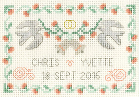 small Wedding Bells Sampler cross stitch kit