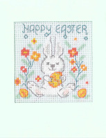 Happy Easter Bunny card cross stitch