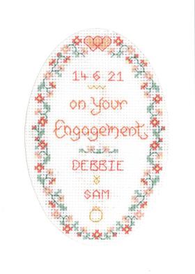 Engagement card cross stitch