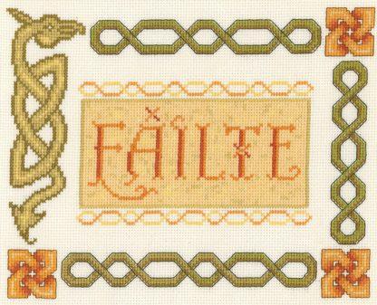 Failte Celtic Welcome Sampler cross stitch
