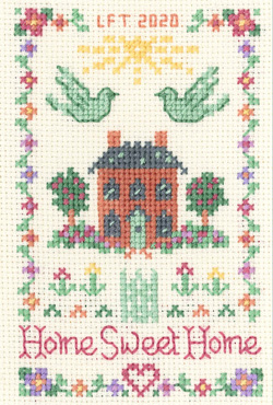mini Home Sweet Home sampler cross stitch