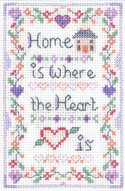 Home is where the heart is mini sampler cross stitch