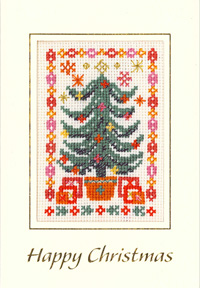 Christmas Tree cross stitch card