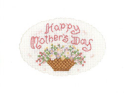 Happy Mother's Day card cross stitch kit