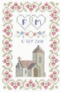petite Marriage sampler cross stitch