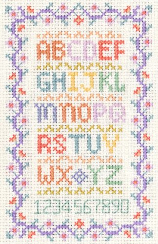 Mini alphabet sampler cross stitch