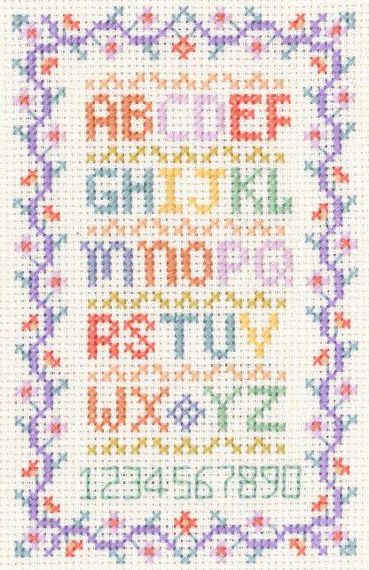 Mini alphabet sampler cross stitch