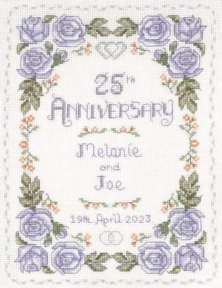 Rose 25th Anniversary sampler cross stitch kit