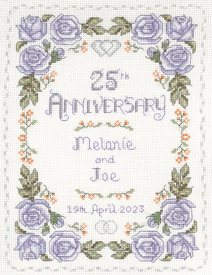 Rose 25th Anniversary sampler cross stitch kit