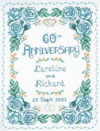 Rose 60th Anniversary sampler cross stitch kit