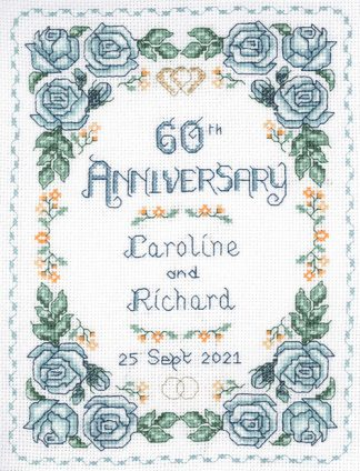 Rose 60th Anniversary sampler cross stitch kit