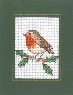 Mini Robin Xmas card