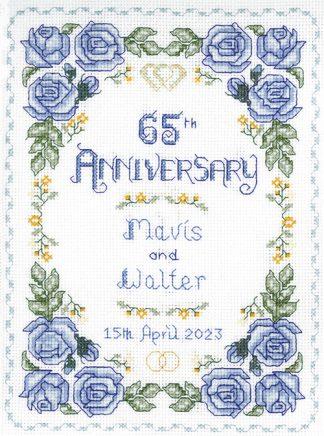 Rose 65th Anniversary Sampler cross stitch