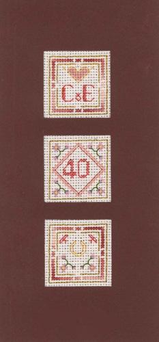 Window 40th Anniversary Card cross stitch