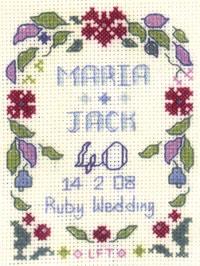 mini Ruby Anniversary sampler
