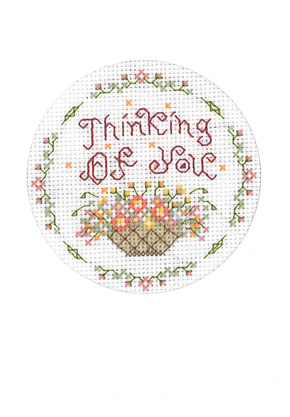 Thinking of You cross stitch card