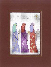 Three Kings Xmas card cross stitch