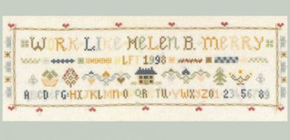 Victorian saying sampler cross stitch