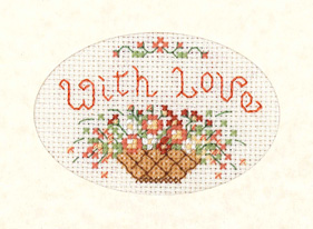 mini With Love card cross stitch kit