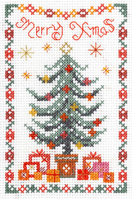 Mini Christmas Tree Sampler cross stitch