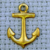 anchor brass charm