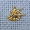 artist's palette brass charm