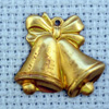 wedding bells brass charm